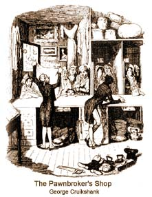 The Pawnbroker's Shop - George Cruikshank